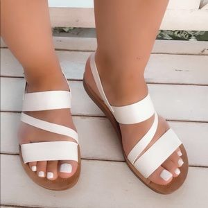 Comfortable Walking Sandals White